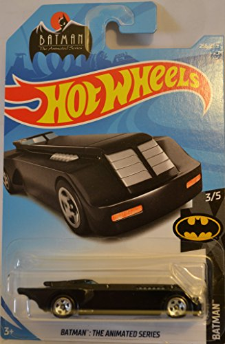 Black Model Bat (Black Batman The Animated Hot Wheels HW Batman Series 1:64 Scale Collectable Die Cast Model Car #3/5)