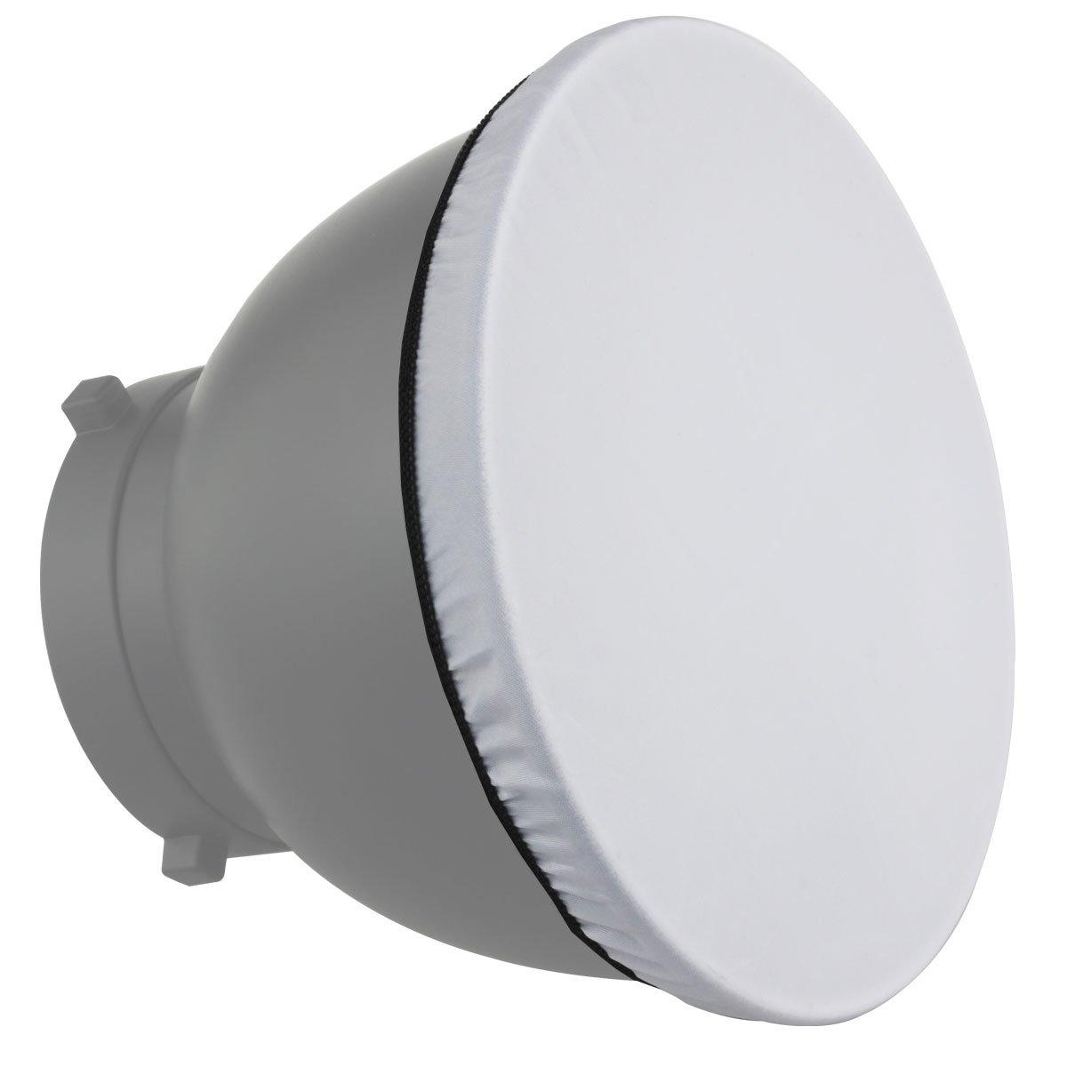 "Haoge 7"" 180mm Soft White Diffuser Sock for Studio Strobe Reflector"