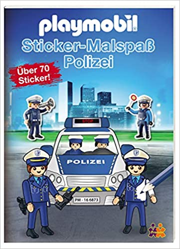 Playmobil Mein Sticker Malbuch Polizei Amazon De Friendz Kids