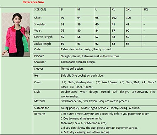 Womens Tang Suits Womens Leisurewear Double-sided Wear Spring and Autumn Womens Clothes Long sleeved Coat Chinese Jackets by Womens Tang Suit (Image #6)