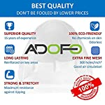 Adofo Foldable Mosquito Net Double Bed + King Size + Queen Size – for Baby, Kids Adult Protection (White Net)