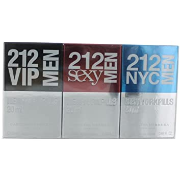 12891b02ed Amazon.com : Carolina Herrera 212 Men New York Pills Gift Set 0.7oz (20ml) 212  VIP Men EDT + 0.7oz (20ml) 212 Sex : Beauty