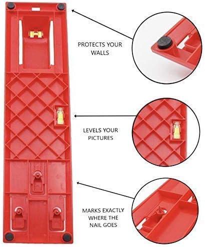 Cintres pour tableaux AW9 Kit doutils de suspension pour tableau 220 pi/èces avec marteau et outil de niveau int/égr/é niveau de suspension pour position de marquage clous crochets c/âbles