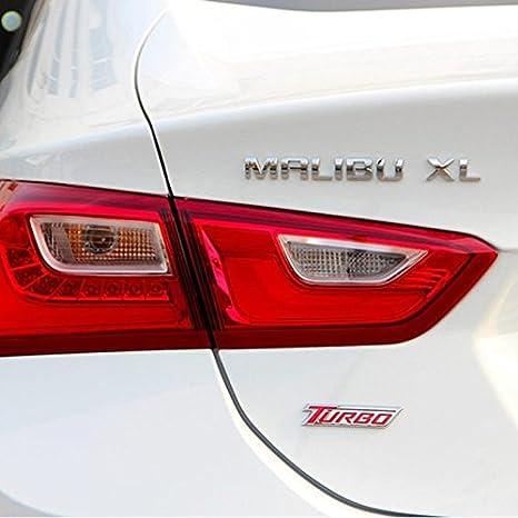 Dsycar 1 Unids 3D Metal TURBO Car Side Fender Emblema Tronco Insignia Calcomanías Etiqueta engomada para Universal Cars Motocicleta Car Styling Accesorios ...