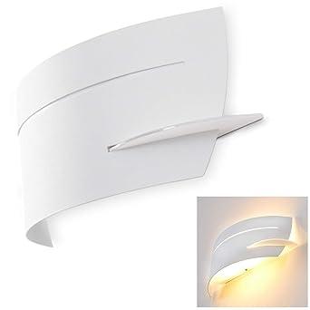 Ideal Lux Wandleuchte Wandstrahler mit Struktur aus Metall Wohnzimmer AP1 Möbel & Wohnaccessoires
