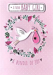 Amazon new born baby girl greeting card second nature just to new born baby girl greeting card second nature just to say m4hsunfo