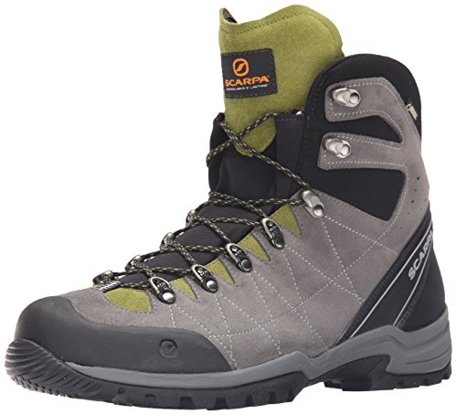 SCARPA Men's R-Evolution GTX Hiking Boot, Titanium/Grasshopper, 43 EU/10 M US