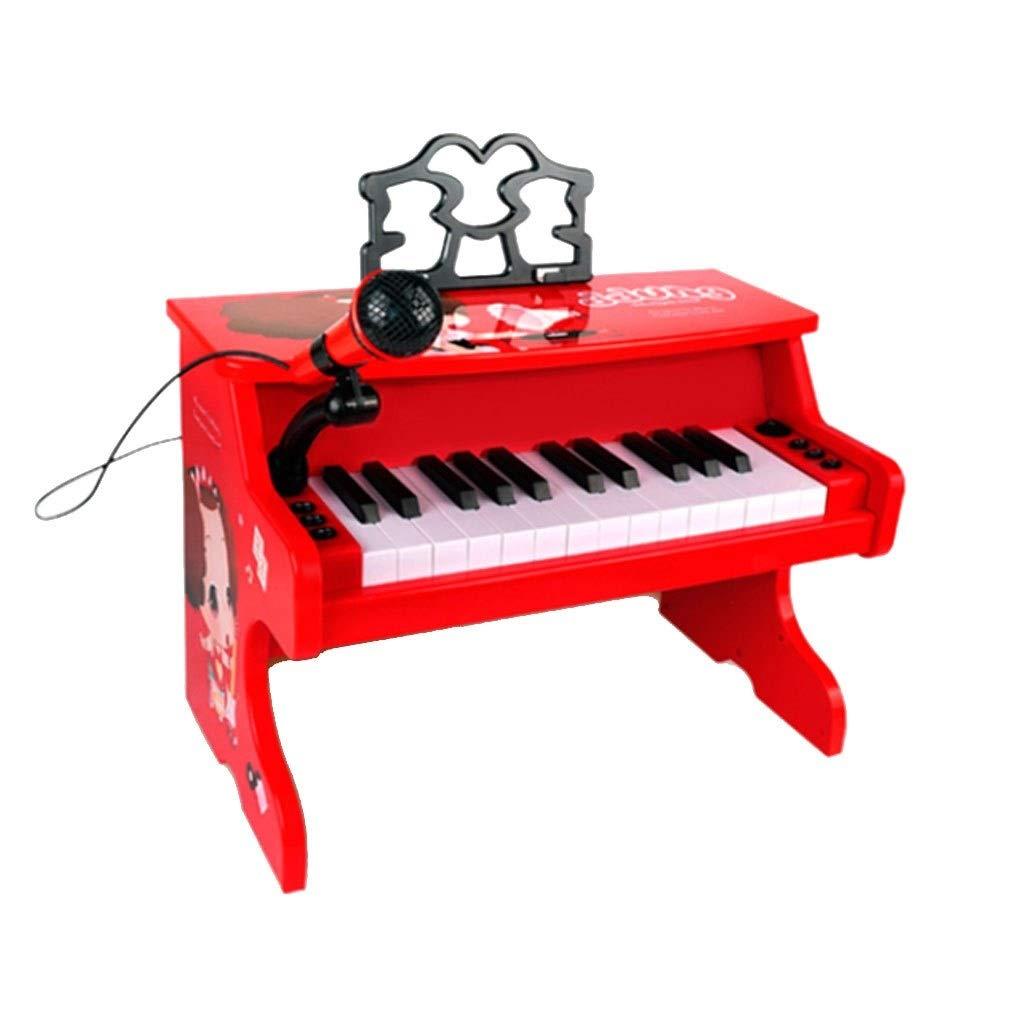 HXGL-Tastatur Spielzeug-Klavier-Multifunktionsmusik-Kultur-Instrument-Tastatur-Plastik 3-4 Jahre Alte Kinderhaus (Farbe   Rot) Rot