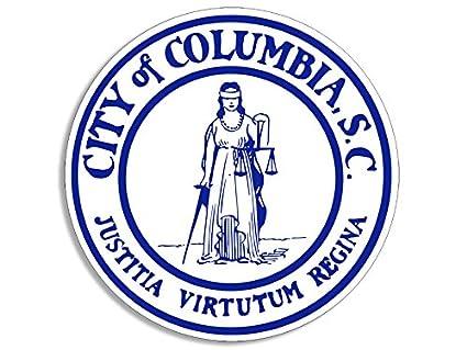 Amazon com: American Vinyl Round City of Columbia SC Seal