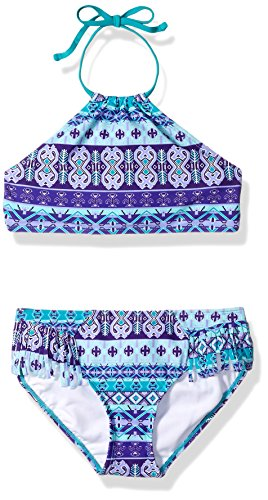 Kanu Surf Toddler Girls' Mahina Halter Bikini Beach Sport 2-Piece Swimsuit, Purple, (2 Piece Toddler Swimsuit)