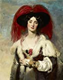 oasis beach cruiser - Oil Painting 'Sir Thomas Lawrence - Julia, Lady Peel, 1827' 16 x 20 inch / 41 x 52 cm , on High Definition HD canvas prints is for Gifts And Dining Room, Kitchen And Living Room Decoration