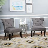 Genero Fabric Chair w/Nailhead Accents (Set of 2) Review