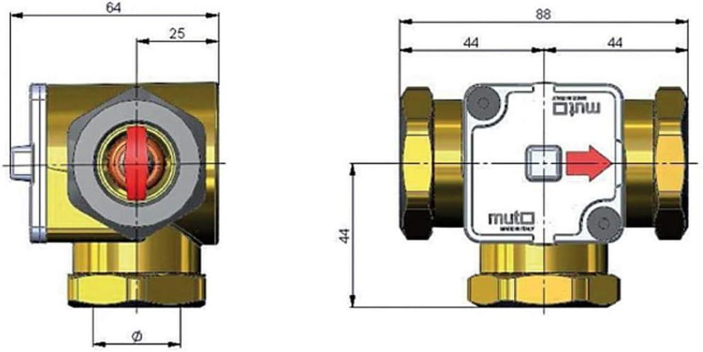 3//4 Thermisches Ladeventil TM 3000 45/°C