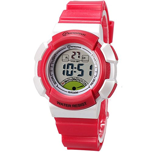 Sport Digital Waterproof Kids Wrist Watches for Girls Chronograph by Euvery