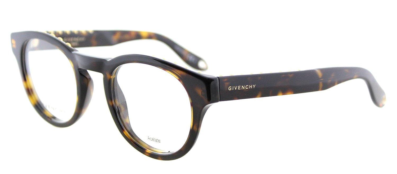 c68c786b8b9 Amazon.com  Givenchy GV 0007 086 Studed Havana Plastic Round Eyeglasses 48mm   Clothing