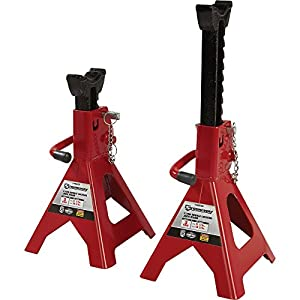 Strongway Double-Locking Jack Stands - Pair, 3-Ton Capacity, 11 1/4in.-16 3/4in. Lift Range