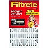 Filtrete Micro Allergen Defense Filter, MPR 1000, 20-Inch x 25-Inch x 4-Inch (4-3/8-Inch Depth), 2-Pack