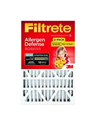 Filtrete Micro Allergen Defense Deep Pleat Filter, MPR 1000, ...