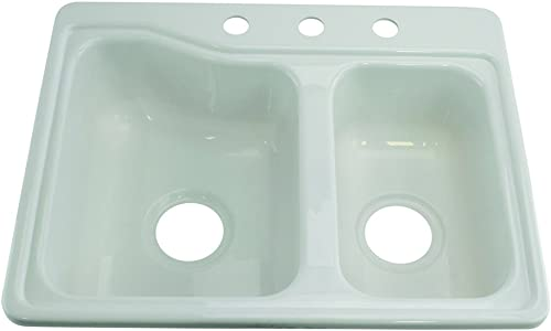 "Lippert 209694 Better Bath RV Double Sink 25"" x 19"" White"