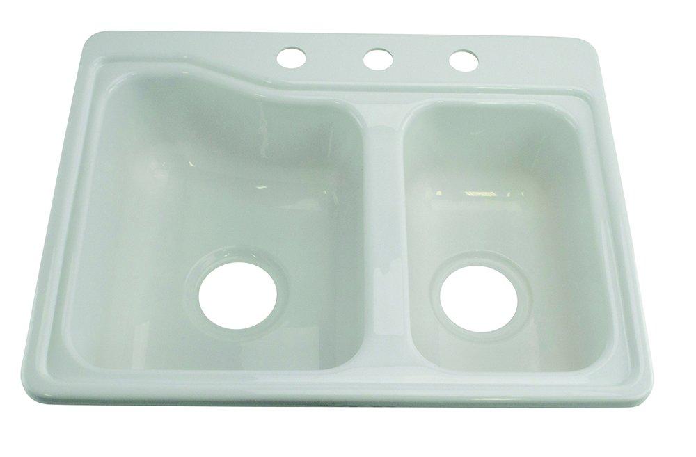 "Lippert 209694 Better Bath RV Double Sink 25"" x 19"" White"