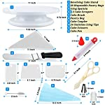 Cake Decorating Supplies 36 Pieces Cake Supplies with Revolving Plastic Turntable, 24 Stainless Steel Decorating Tips, 3 Plastic Scrapers, Icing Spatular, Pastry Bag 21 EVERYTHING NEEDED TO DECORATE CAKE - Cake turntable stand, 24 Stainless Steel icing Tip set, 1 Cake Decorating Turntable 11 inch , 1 Icing Spatula With Sided 11 inch, 1 Reusable Silicone Pastry Bags, 1 Cake Tip Brush,1 Cake Flower Lifter,1 Cake Pen, 3 Cake Scrapers, 1Piping Tip Coupler, 20 Disposable Pastry Bag. A MUST HAVE STAND FOR BAKING LOVERS - Make beautiful cakes with the Growses cake decorating supplies package. The rotating Cake decorating stand help you to easily decorate round cakes and other desserts for birthdays, parties, weddings and other events. The Round Turntable is robust, made from non sticky plastic, non-toxic, dishwasher safe, ideal for beginners as well as for professionals. MORE ICING BAGS FOR USING - 1 pastry bag and 1 disposable pastry bags, perfect for decorating with milti-color cream, Plastic Couplers can be easier to change piping tips.