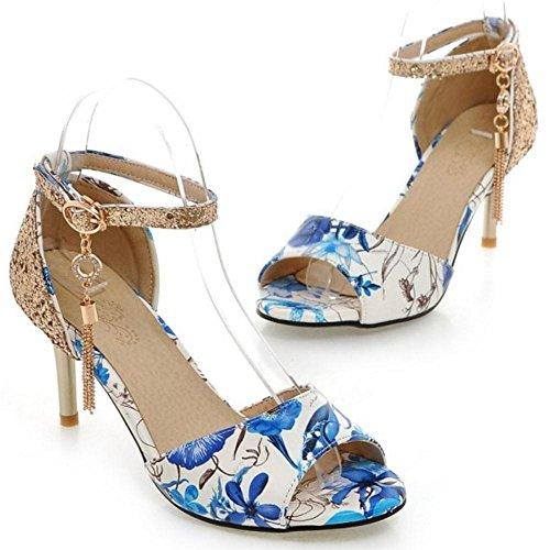blue Bride Femmes Sandales Cheville TAOFFEN wZSq8W