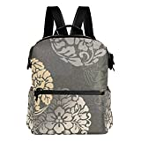 LEEZONE Canvas multipurpose Backpack with Elegant Decorative Patternr Printing