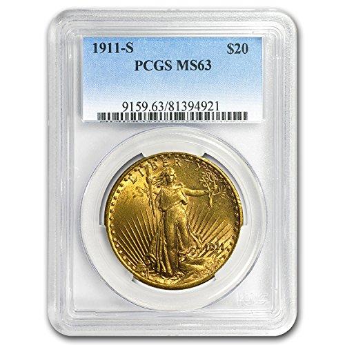 1911 S $20 St. Gaudens Gold Double Eagle MS-63 PCGS G$20 MS-63 PCGS