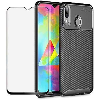 08dcef670d8 BestShare Funda para Samsung Galaxy M20 Case con Protector de Pantalla de  Cristal Templado, Delgadode Silicona Funda de Suave Anti-arañazos Choque  Absorción ...