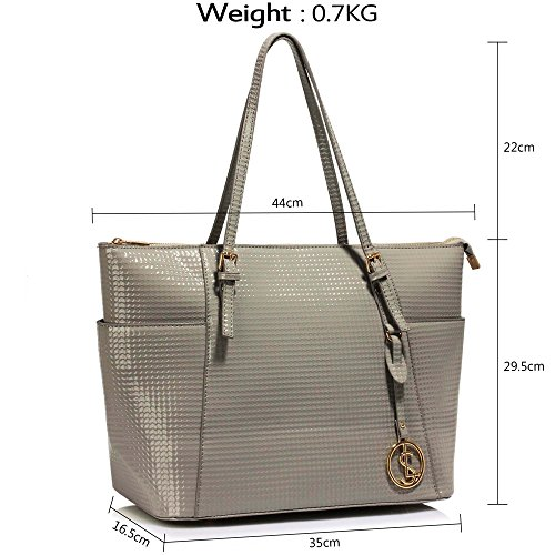 2 Ladies New Handbags For Grey School Designer Shopper Tote College Bags Womens Large Design vnYvrq7