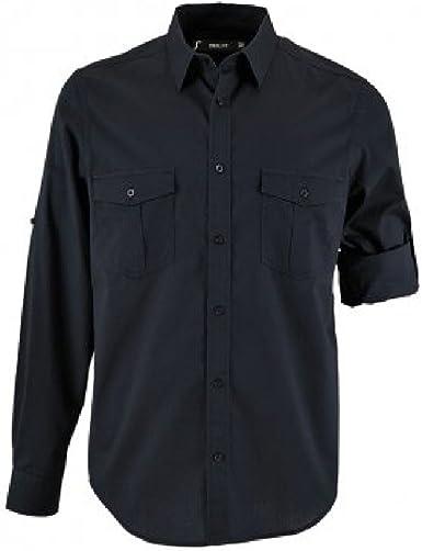 SOLS - Camisa de popelín Mangas enrollables Modelo Burma para ...