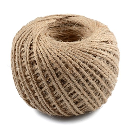 Ply Hemp 3 (Craft Decor Craft Decor Hemp Rope Natural Jute Twine 3 Ply Ribbon for DIY Decorate Handmade Accessory Packing Garden Arts Wedding Gift Decorate Wrapping Cords Thread 50 mt/Lot.)