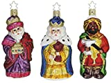 "Inge-Glas ""We Three Kings"" German Glass Christmas Ornament 3-Piece Set #40110907"
