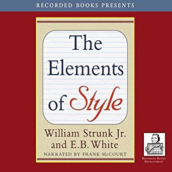 Amazoncom The Elements Of Style Recorded Books Edition Audible