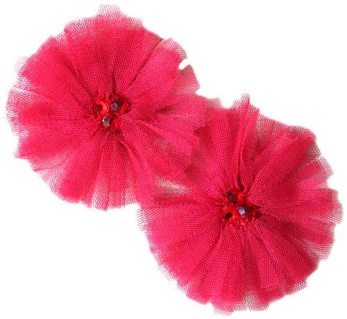 Maya Road TK2387 Tu-Tu Tulle Flower Scrapbooking Embellishments, Cherry Red by Maya Road B00BZDULM8