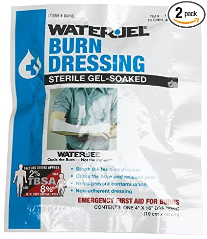 "First Aid Only 4"" X 16"" Water Jel Burn Dressing, Sterile (Pack of 2)"
