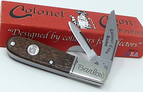 Handmade in The USA Colonel Coon Two Blade Barlow Working Pocket ()