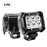 Nilight 2PCS 18W 1260lm Spot Driving Fog Light Off Road Led Lights Bar Mounting Bracket for SUV Boat 4