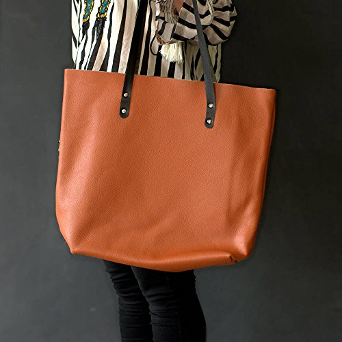 MONT5 Large Leather Tote Carryall Women Work Laptop Shoulder Office Shopping by Xport Designs (Image #1)
