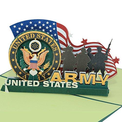 3D Pop Up Cards - Marine, Army, Air Force, Navy - Birthday Card, Graduation Card, Greeting Card By AITpop