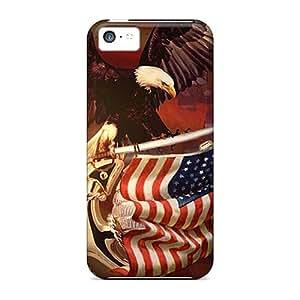 New Tpu Hard Case Premium Iphone 5c Skin Case Cover(patriotic)