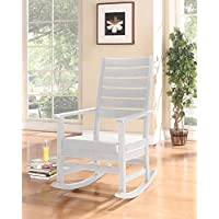 ACME Kloris White Faux Leather Rocking Chair