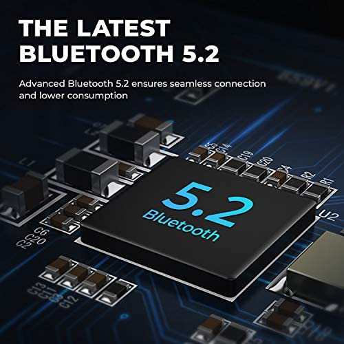 2021 Wireless Earbuds, Tribit Qualcomm QCC3040 Bluetooth 5.2, 4 Mics CVC 8.0 Noise Reduction 50H Playtime Clear Calls Volume Control True Wireless Bluetooth Earbuds Earphones, FlyBuds C1