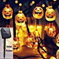 Christmas String Lights, Solar String Light,20ft 30 LED Outdoor Decorative Lights for Patio, Garden, Gate, Yard, Halloween Christmas Decoration (IP65 Waterproof,Warm White)