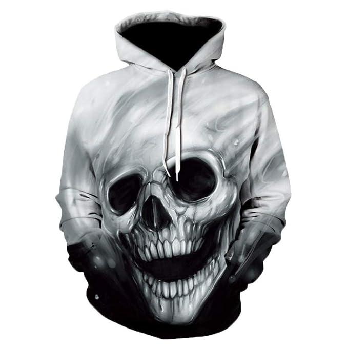 Sudaderas con Capucha para Ropa Sanitaria Impresa Sombreros Parejas 3D Caras De Fantasmas Personalidades Vestidos De rol De Hip-Hop: Amazon.es: Ropa y ...