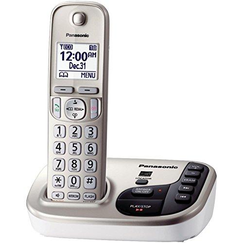 Telephones, Silver Panasonic Cordless Home Office Landline (Panasonic Silver Expandable Telephone)