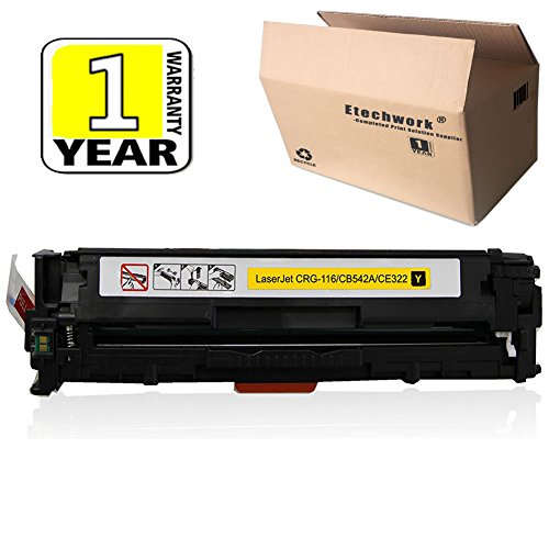 (Etechwork Compatible 125A CB542A Toner Cartridge 1 Pack Yellow Replacement for Color Laserjet CM1312NFI CM1312 MFP CP1215 CP1518NI CP1515N)