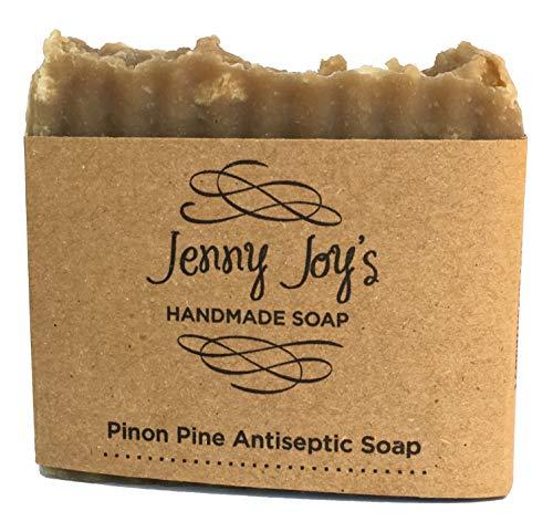 Jenny Joy's Soap Pine Resin Soap Pinon Wild Harvested for Men & Women Woodsy Scent Skin Scrub, Moisturizes & Soothes Dry Skin, Psoriasis, Bug Bites & Eczema Handmade 5-6 oz. Bar Southwest Healing