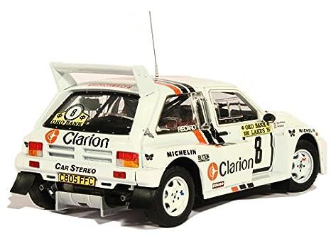 Amazon.com: Sunstar 5536 – MG Metro 6R4 Rally 1000 Lakes 1986 – Scale 1/18 White: Sun star: Toys & Games