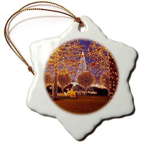 TIFA-LOVE Porcelain Snowflake Ornament, 3-Inch, Christmas, Opryland Hotel, Nashville, Tennessee USA-Brian Jannsen (Opryland Christmas Hotel)